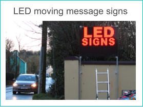 LED moving message signs